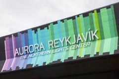 Aurora Reykjavik Northern Lights Center royalty free stock photography