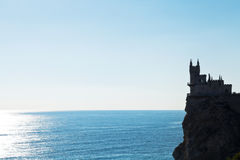 Aurora rock with Swallow's Nest castle in morning Stock Images
