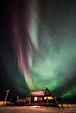 Aurora in Sandgerði, Island Lizenzfreies Stockfoto