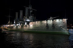 Aurora ship in the night Stock Photography