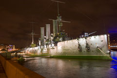 Aurora ship in St.Petersburg Royalty Free Stock Photo