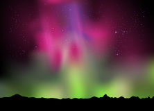 Aurora in the sky. Illustration of the northern lights aurora in the sky royalty free illustration