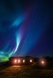 Aurora sobre su tejado Imagen de archivo libre de regalías