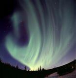 aurora strong Στοκ Φωτογραφία