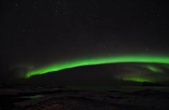 Aurora surpreendente, o fiorde, e um grupo de fotógrafo imagem de stock royalty free