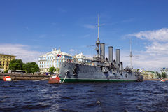Aurora - symbol of revolution in Russia, the museum in St. Peter Royalty Free Stock Photo