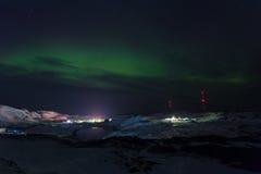 Aurora  on Teriberka Stock Photos
