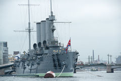 Aurora um navio do museu do russo Imagens de Stock