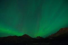 Aurora verde Fotografía de archivo