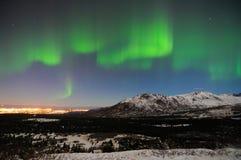 Aurora verde Fotografía de archivo libre de regalías