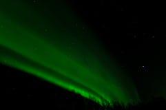 Aurora verde della parete Fotografia Stock Libera da Diritti