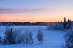 Aurora Village à Yellowknife photos stock