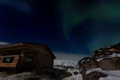 Aurora in winter Stock Photography