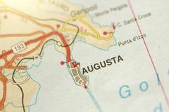 auroral Ön av Sicilien, Italien fotografering för bildbyråer