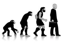 Auroro - évolution d'homme Photo stock