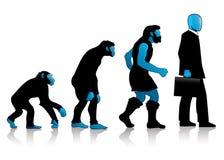 auroro błękitny ewoluci mężczyzna Zdjęcia Stock