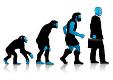 Auroro - Man Evolution blue. One of the Auroro\\\'s Family collection. The evolution of man kind, extremely elegant. Made for company\\\'s corporate image Royalty Free Stock Photos