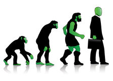 Auroro - Man Evolution green. One of the Auroro\\\'s Family collection. The evolution of man kind, extremely elegant. Made for company\\\'s corporate image Stock Images