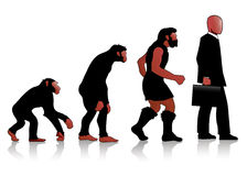 Auroro - Man Evolution red Royalty Free Stock Photos