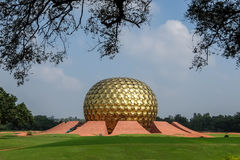 View of Auroville meditation hall. Royalty Free Stock Photos