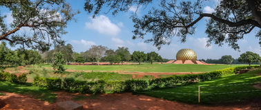 View of Auroville meditation hall. Stock Photos