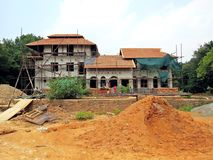 construction site in Auroville stock photography
