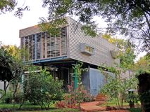 creative architecture, Auroville royalty free stock photo