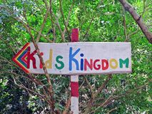 Kids Kingdom in Auroville stock images