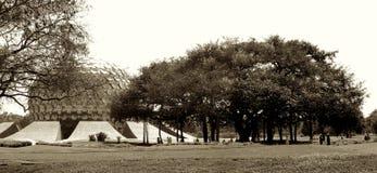 Auroville Matrimandir葡萄酒 免版税库存照片