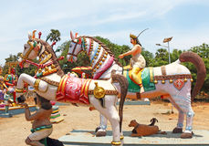 Auroville statue park india Royalty Free Stock Photography
