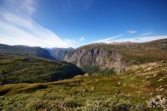 Aursjoweg in Noorwegen stock afbeelding