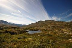 Aursjoweg in Noorwegen stock afbeeldingen