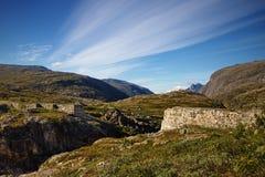 Aursjoweg in Noorwegen royalty-vrije stock afbeelding