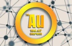 Aurum chemical element. Royalty Free Stock Photos
