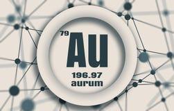 Aurum chemical element. Stock Images