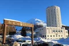 Aurum Hotel in Sestriere, Turin, Piedmont, Italy Stock Image