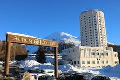 Aurum-Hotel in Sestriere, Turin, Piemont, Italien Stockbild