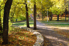 aurumn横向公园 免版税图库摄影
