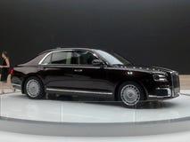 Aurus Senat Salon international 2018 d'automobile de Moscou photographie stock