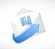 Aus Büroantwort-E-Mail-Umschlagillustration heraus vektor abbildung