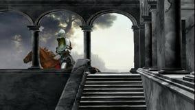 Aus dem Schloss heraus lizenzfreie abbildung