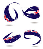 Aus flag ribbon Royalty Free Stock Images