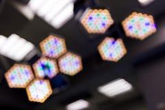 Aus Fokus Operationsraum-Lichtern heraus Lizenzfreies Stockfoto
