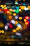 Aus Fokus-Stadt-Lichtern heraus Lizenzfreie Stockfotos