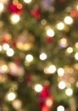 Aus Fokus-Weihnachtsleuchten heraus Lizenzfreies Stockbild