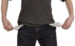 Aus Geld heraus Krise Lizenzfreie Stockbilder