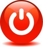An-/Aus-Schalter-Netz-Ikonenrot lizenzfreie abbildung