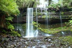 aus spadek śródpolny mt park narodowy Russel Tasmania obraz stock