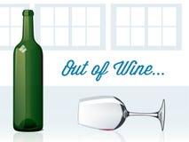 Aus Wein heraus Lizenzfreie Stockbilder
