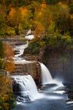 Ausable-Abgrund-Wasserfall Lizenzfreies Stockfoto